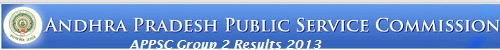 APPSC Group 2 Results 2013 Final Selected List at www.apspsc.gov.in