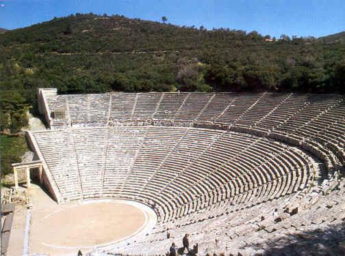 El Teatro de Epidauro. EL Teatro en Grecia. Importancia del teatro en grecia. Historia de Grecia