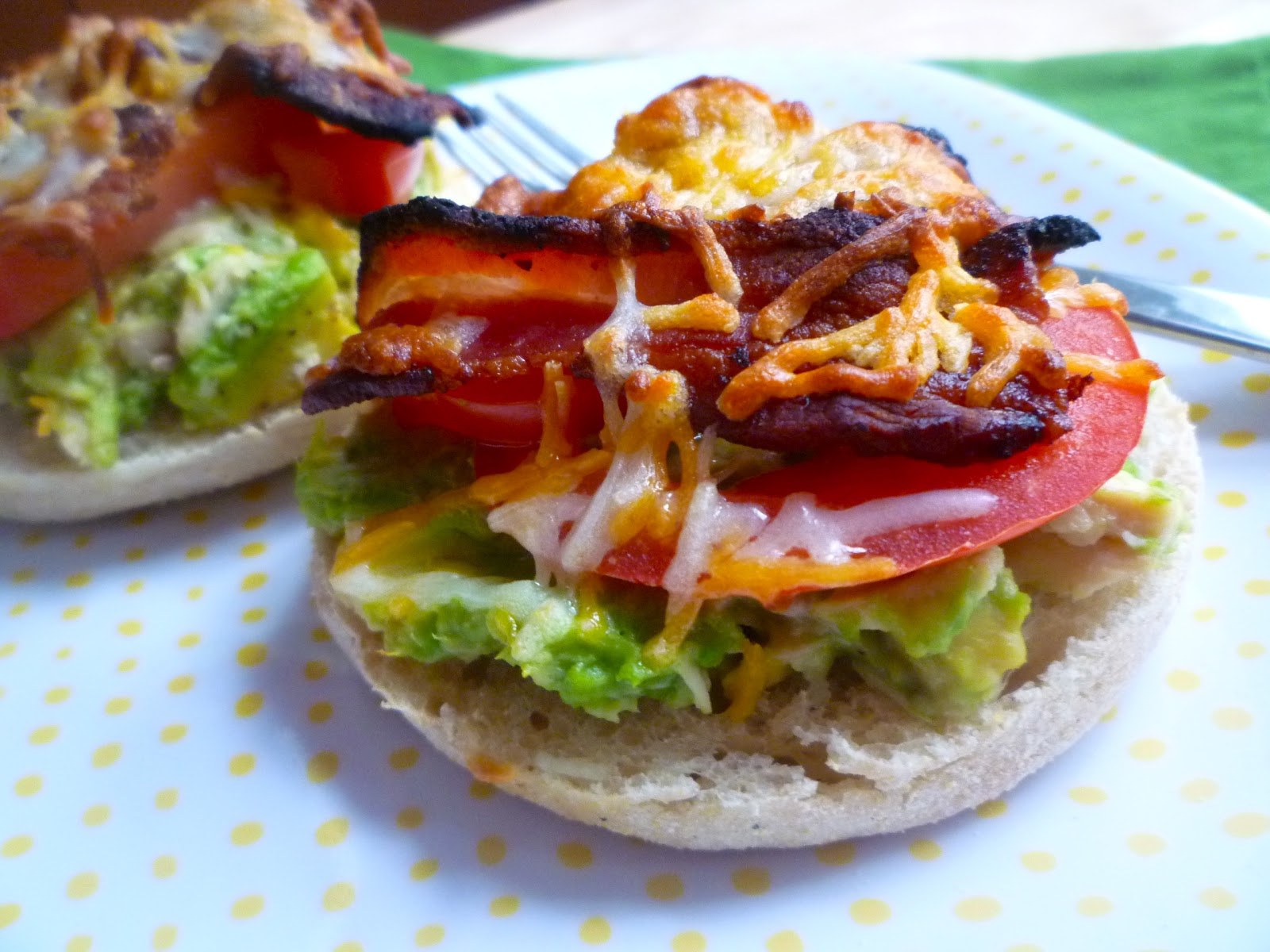 Egg Tomato Muffin Melt With Bacon Recipe — Dishmaps