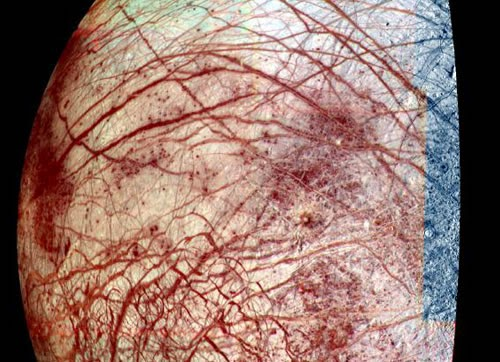 Red tinge of Europa