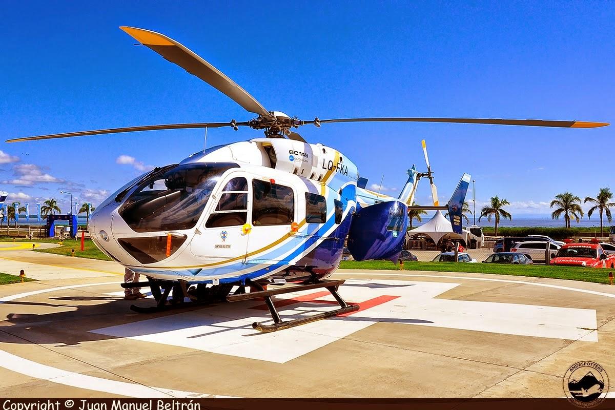 Helicópteros en Termas de Río Hondo