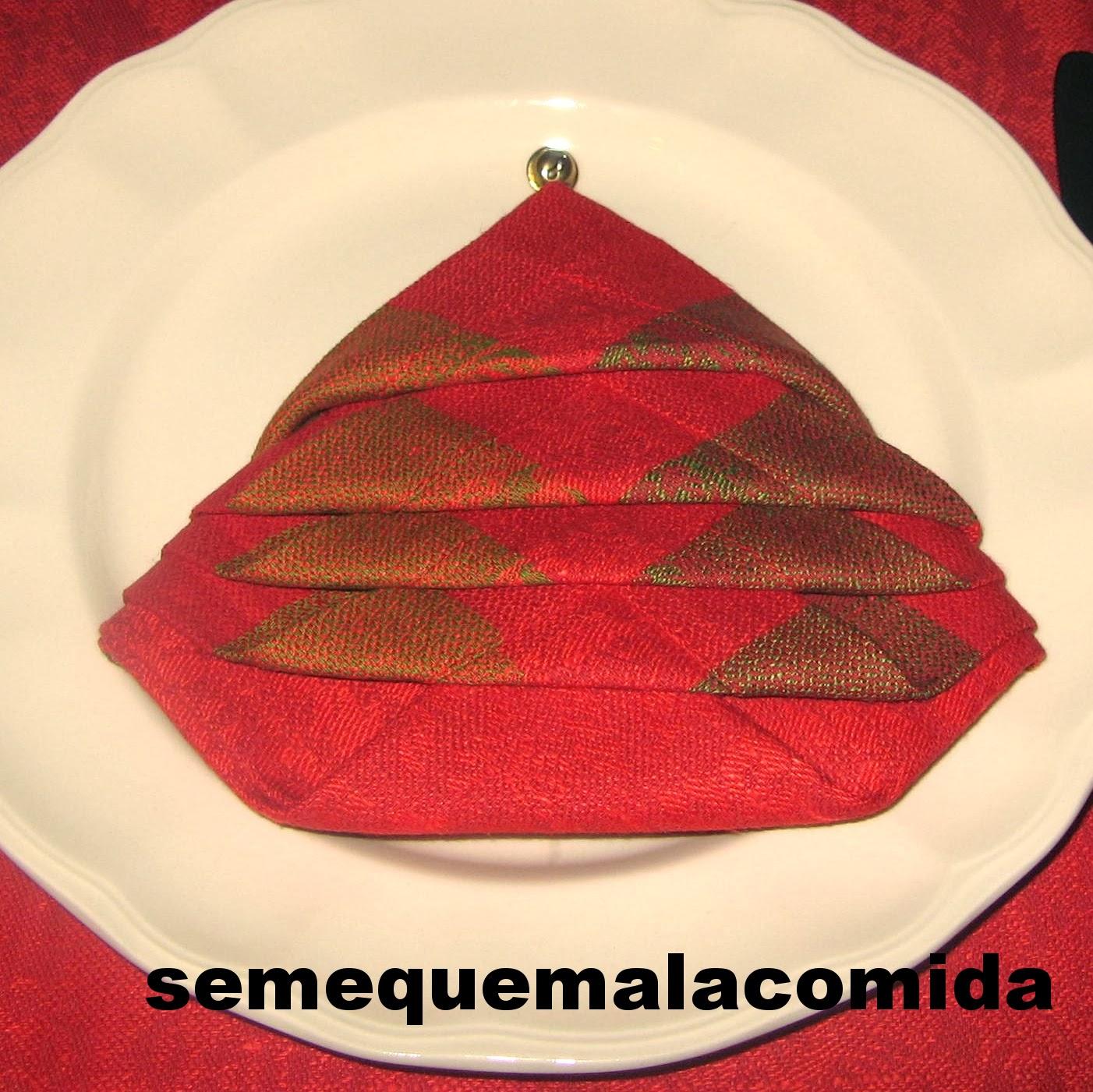 Se me quema la comida doblar servilletas rbol de navidad - Doblar servilletas para navidad ...