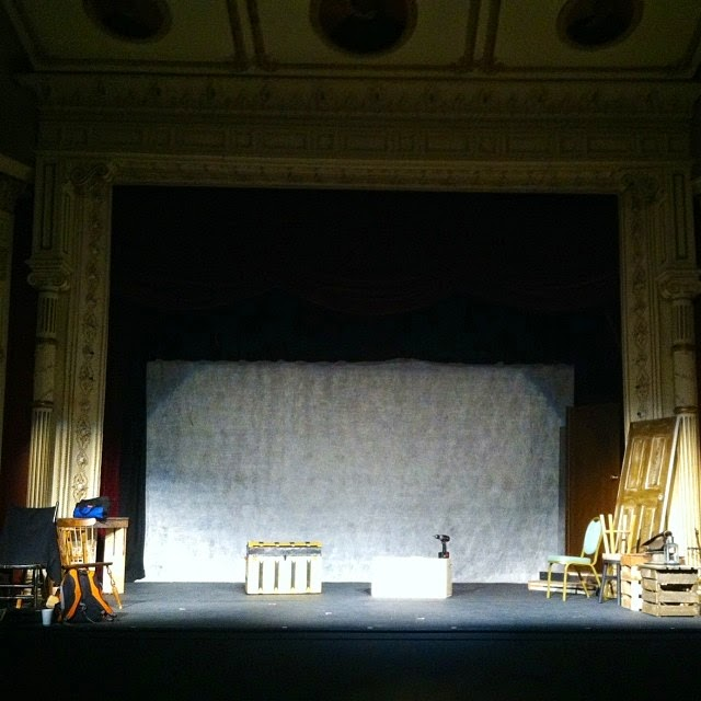 The stage in preparation of Woman In Black