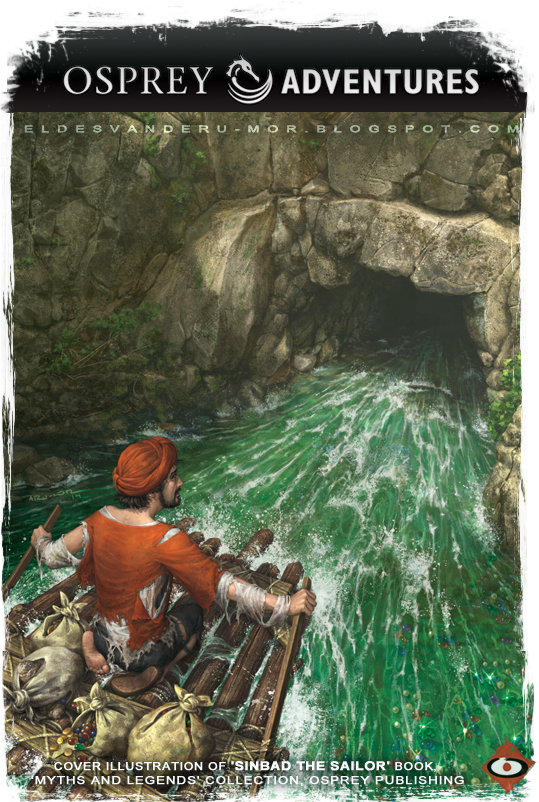 Sinbad the Sailor book illustrated by RU-MOR for OSPREY Publishing, colection Myths and Legends. Simbad el Marino