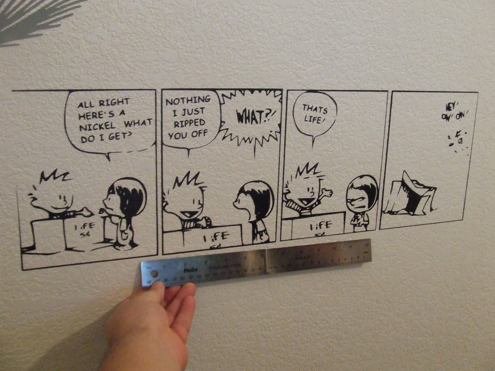 Wall Decal Calvin Hobbes Wall Decal : Wall Decal Of A Calvin And Hobbes  Comic Strip Part 43