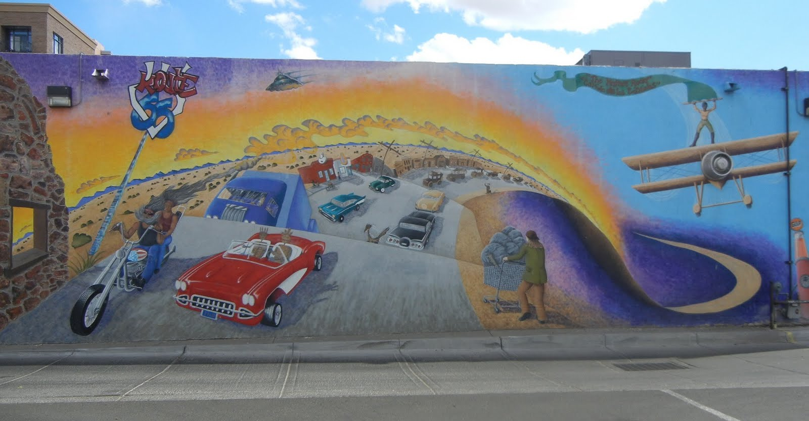 Steve and ivy for Route 66 mural