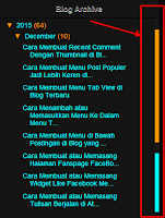 Cara Membuat Menu Arsip Blog Archive Dengan Scroll di blogger