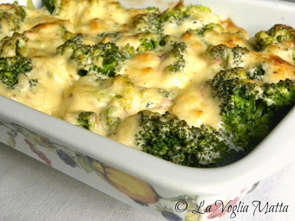 broccoli gratinati all'emmenthal