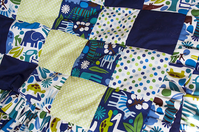 modern zoo print quilt