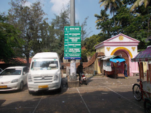 Mattancherry Public bus-stop and main tourist  vehicle parking.