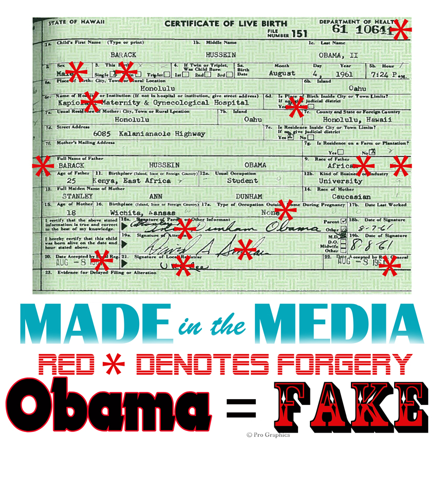 Obamafake get the word out obamas forged birth certificate and illustration from fortune 500 graphic expert and lifelong democrat mara zebests stunning dissection of obamas forged birth certificate presented here per aiddatafo Gallery