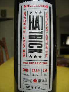 Label photo of 2010 Hat Trick Red