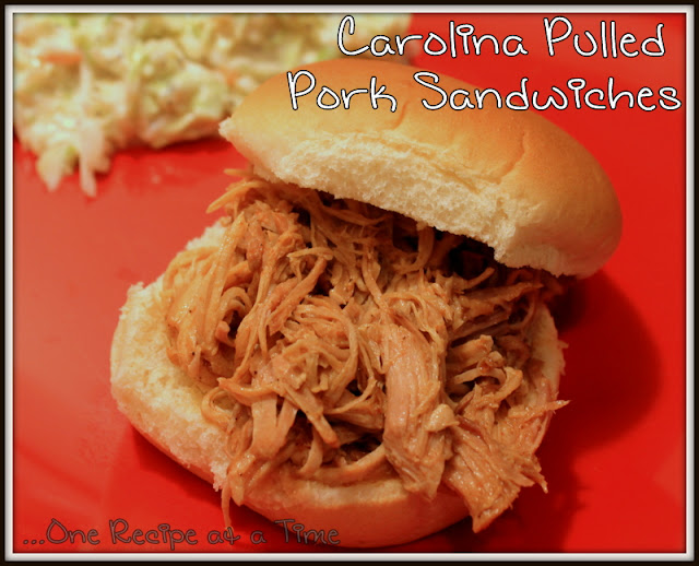... the Ropes...One Recipe at a Time: Carolina Pulled Pork Sandwiches