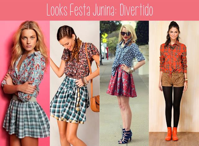 moda, festa, junho, julho, caipira, fashion, mix de estampa, saia rodada, camisa xadrez