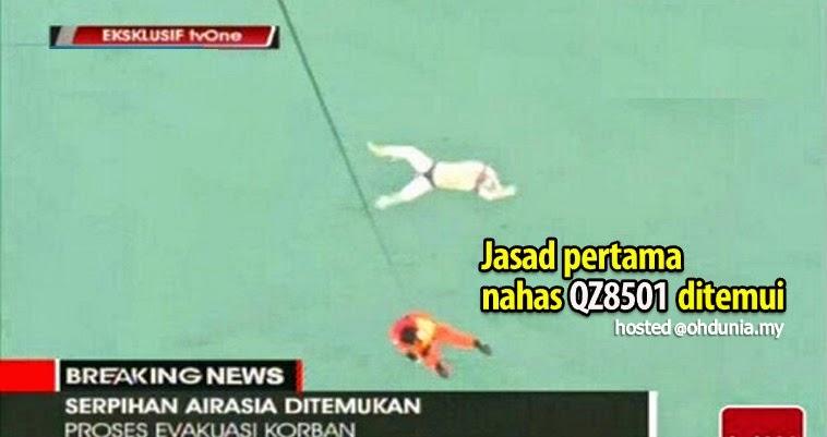 Jasad pertama mangsa nahas pesawat AirAsia QZ8501 ditemui