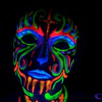 Luminous Face Paint Skeleton