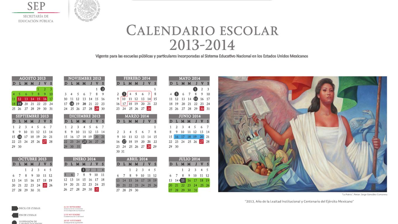 Calendario escolar 2013 - 2014.