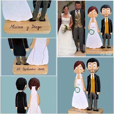 Tu boda en madera - Muñecos de novios de boda personalizados