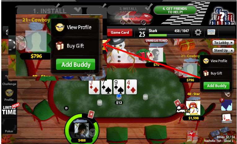Add Friend On Zynga Poker