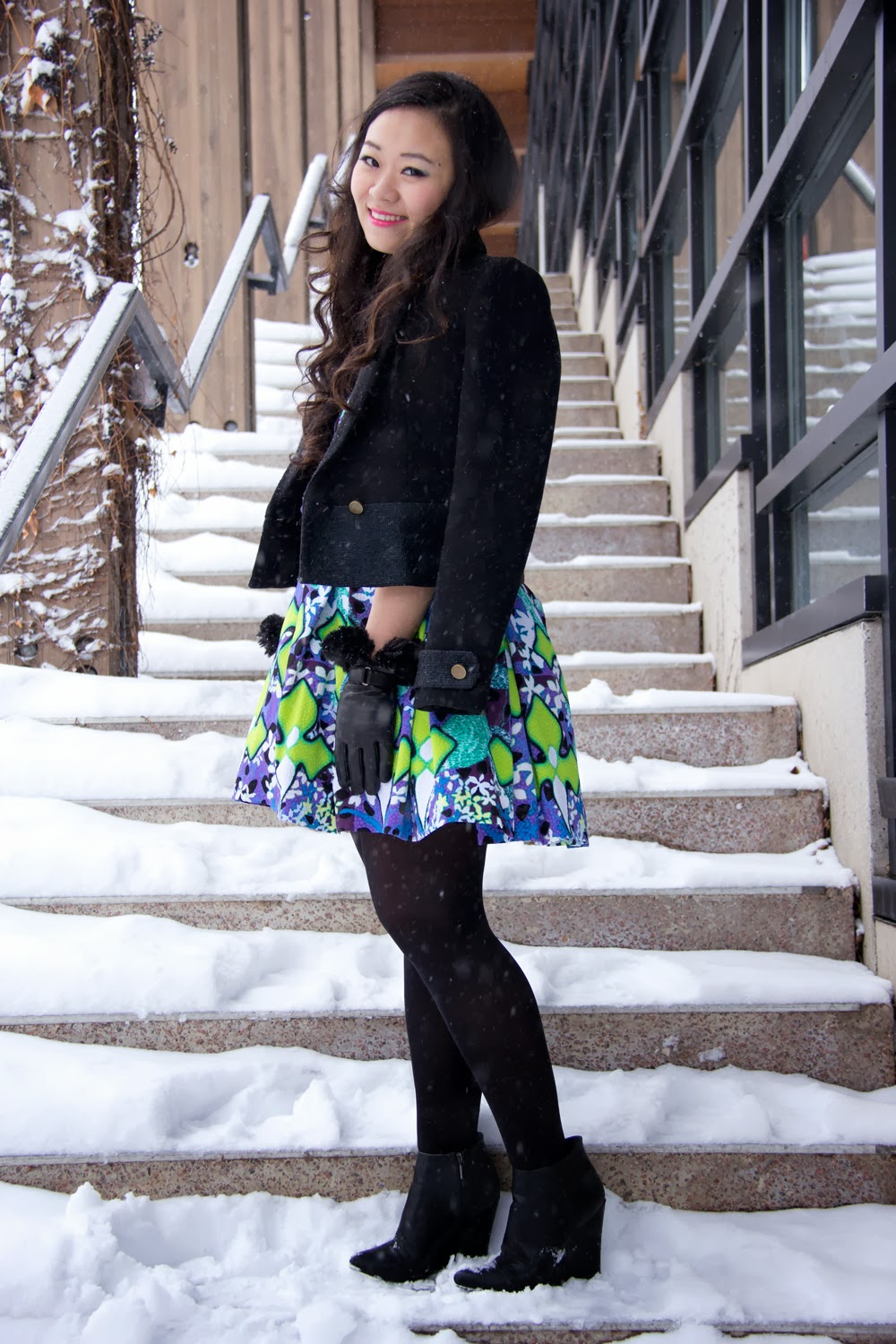 Peter-Pilotto-For-Target, Spring-Dress, Romantic, Zara-Blazer, Le-Chateau-Boots