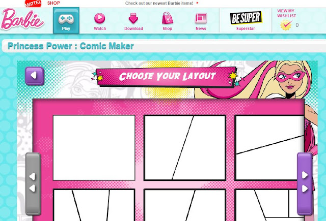 http://www.barbie.com/en-us/game/Comic-Maker