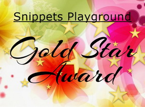 A Gold Star at Snippets Playground!