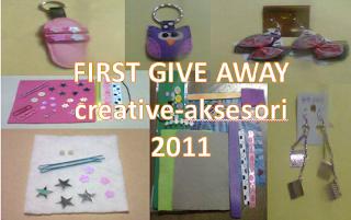 GIVE AWAY creative-aksesori YANG PERTAMA