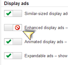How to add/remove adsense Gray/blue arrow button