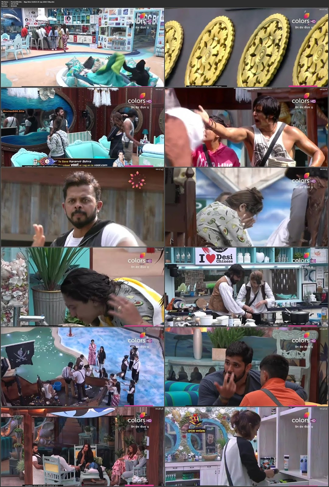 Bigg Boss Season 12 Episode 10 HDTV 25 September 2018 720p