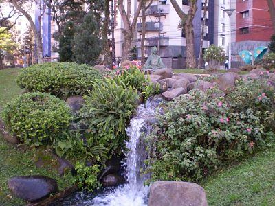 Água, cachoeiras, lagoas, praças e parques
