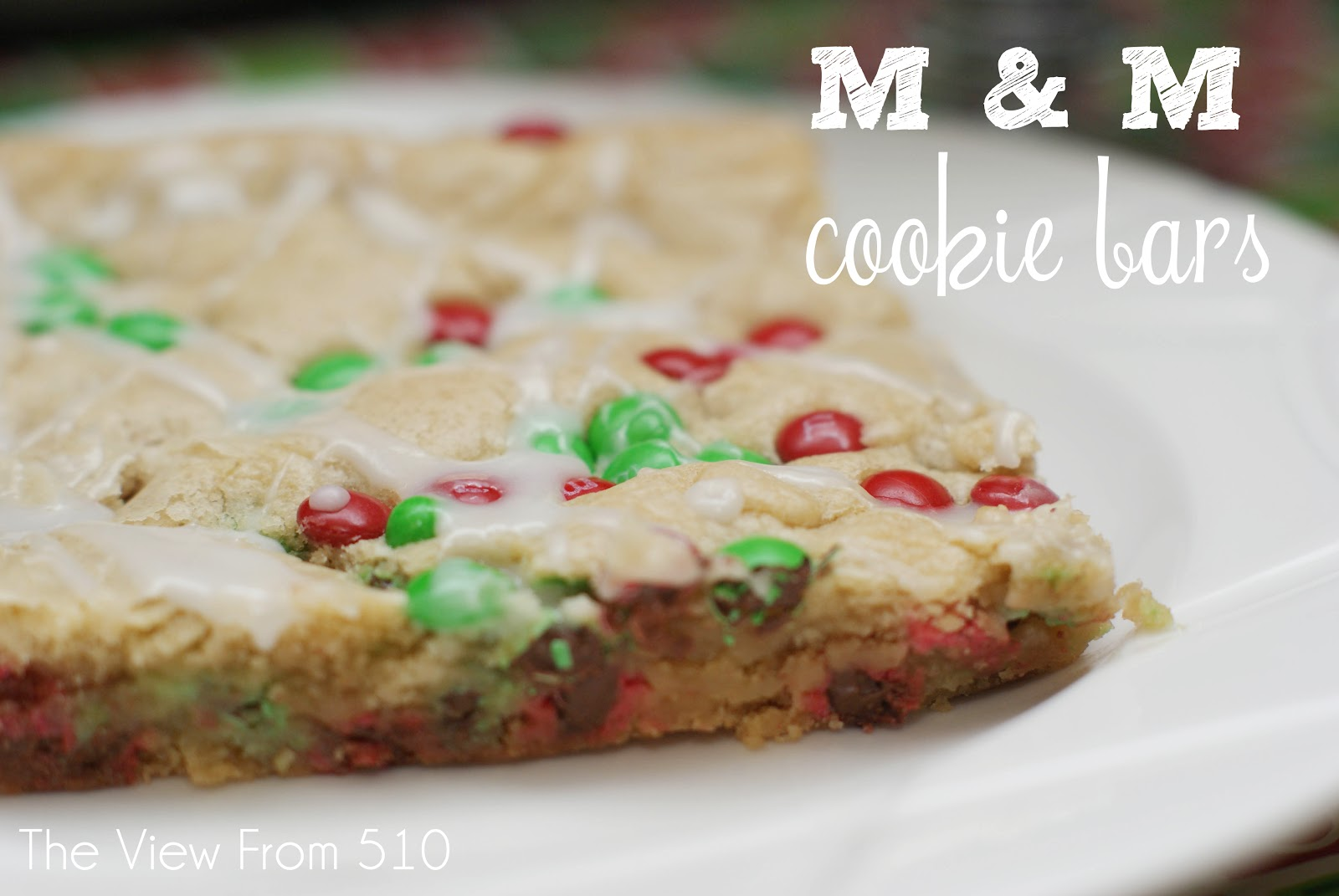 Christmas M M Cookie Bars Wholehearted Finishing