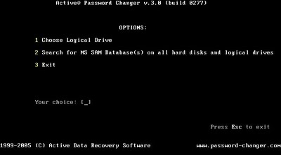 Active@ Password Changer