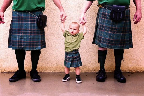 Three generations of Smiths sporting their kilts (from Sport Kilts)