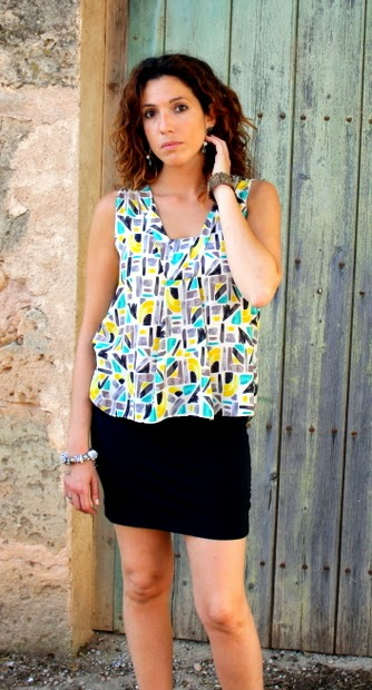camisa colores geometrico