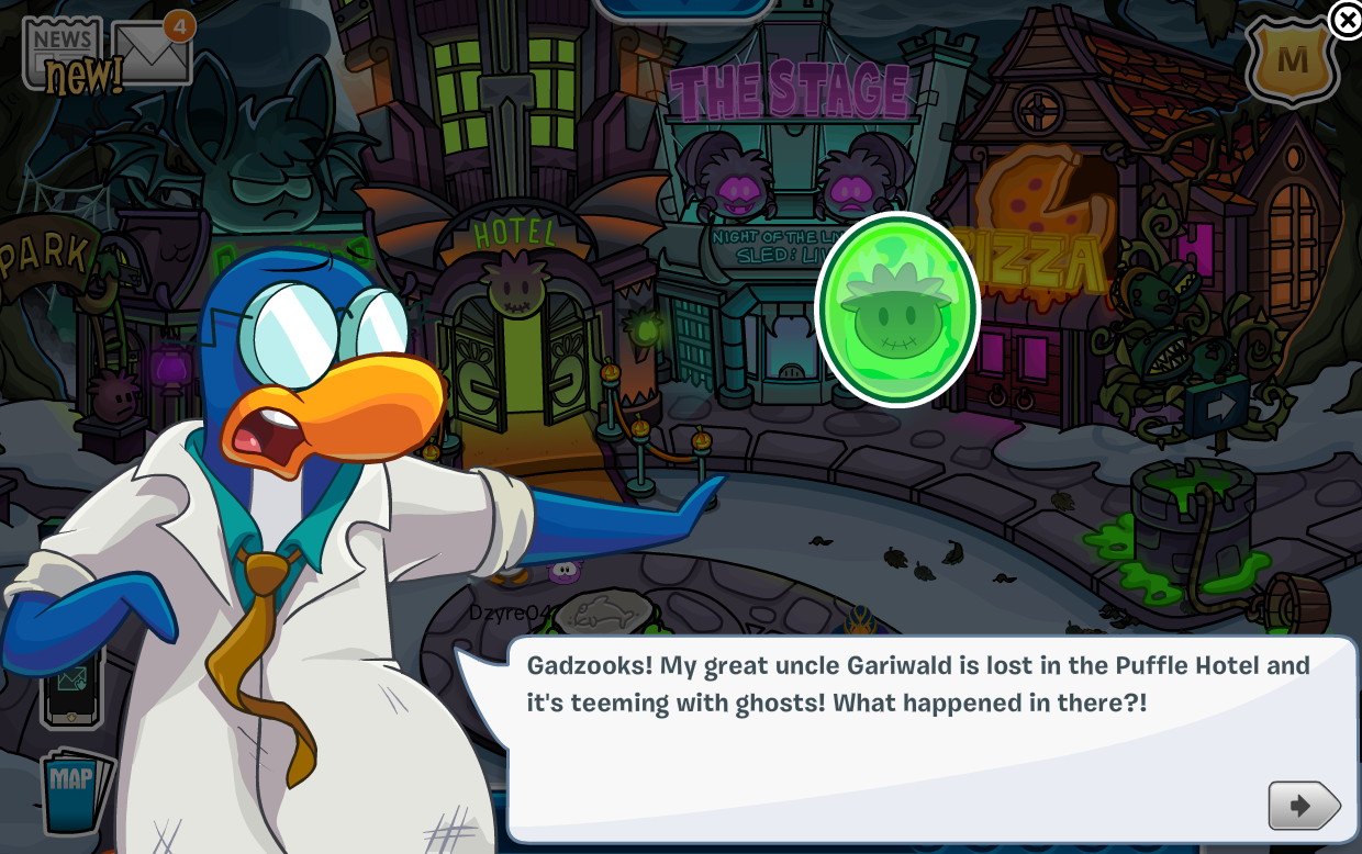 Club Penguin Halloween Party 2014 Cheats