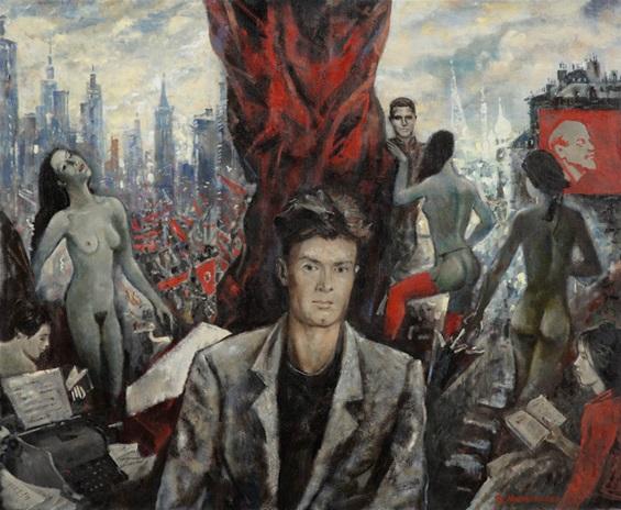 Edouard Limonov inspire les peintres russes (tela di Vera Mylnikova)