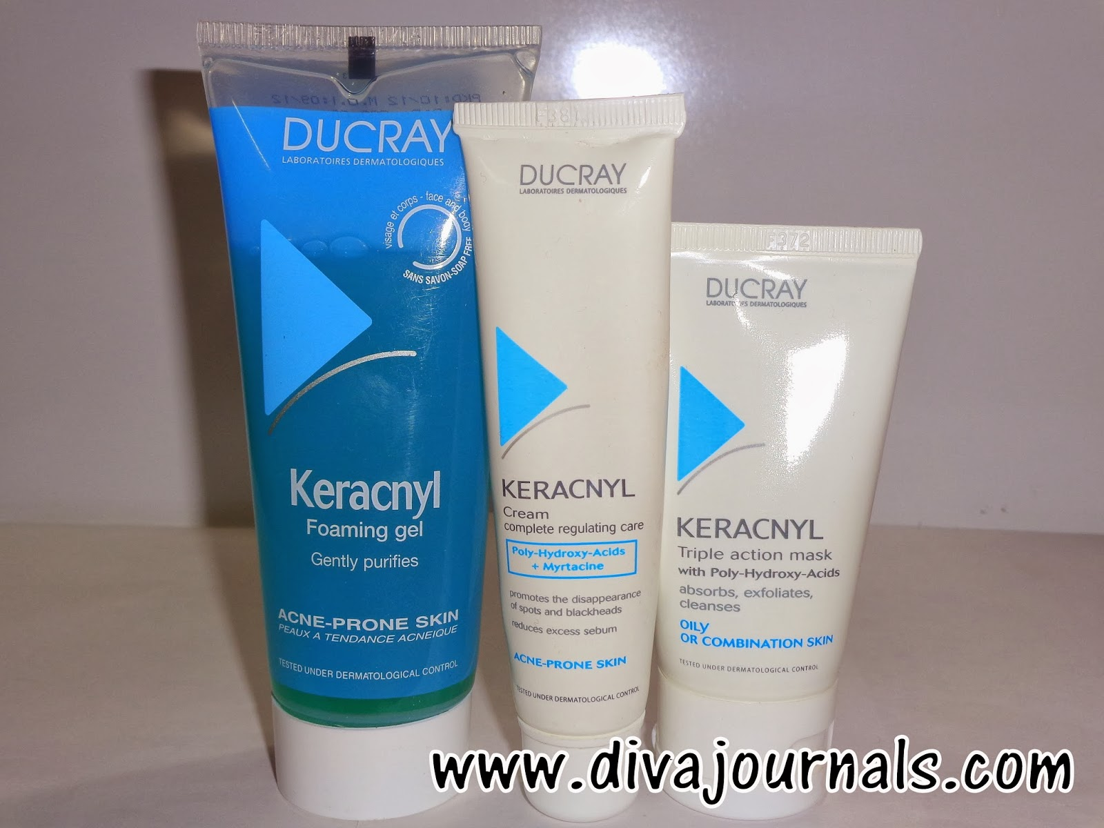 Ducray Keracnyl- Foaming Gel, Complete Regulating Care Cream,Triple Action Mask Reviews