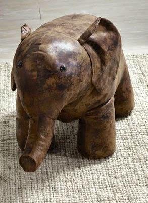 Taburete bajo imitacion elefante