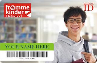 contoh kartu pelajar, cetak kartu mahasiswa murah di bandung