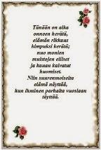 runo nuorelle naiselle Loviisa