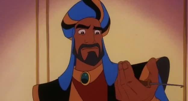Screen Shot Of Aladdin and the King of Thieves (1996) Dual Audio Movie 300MB small Size PC Movie