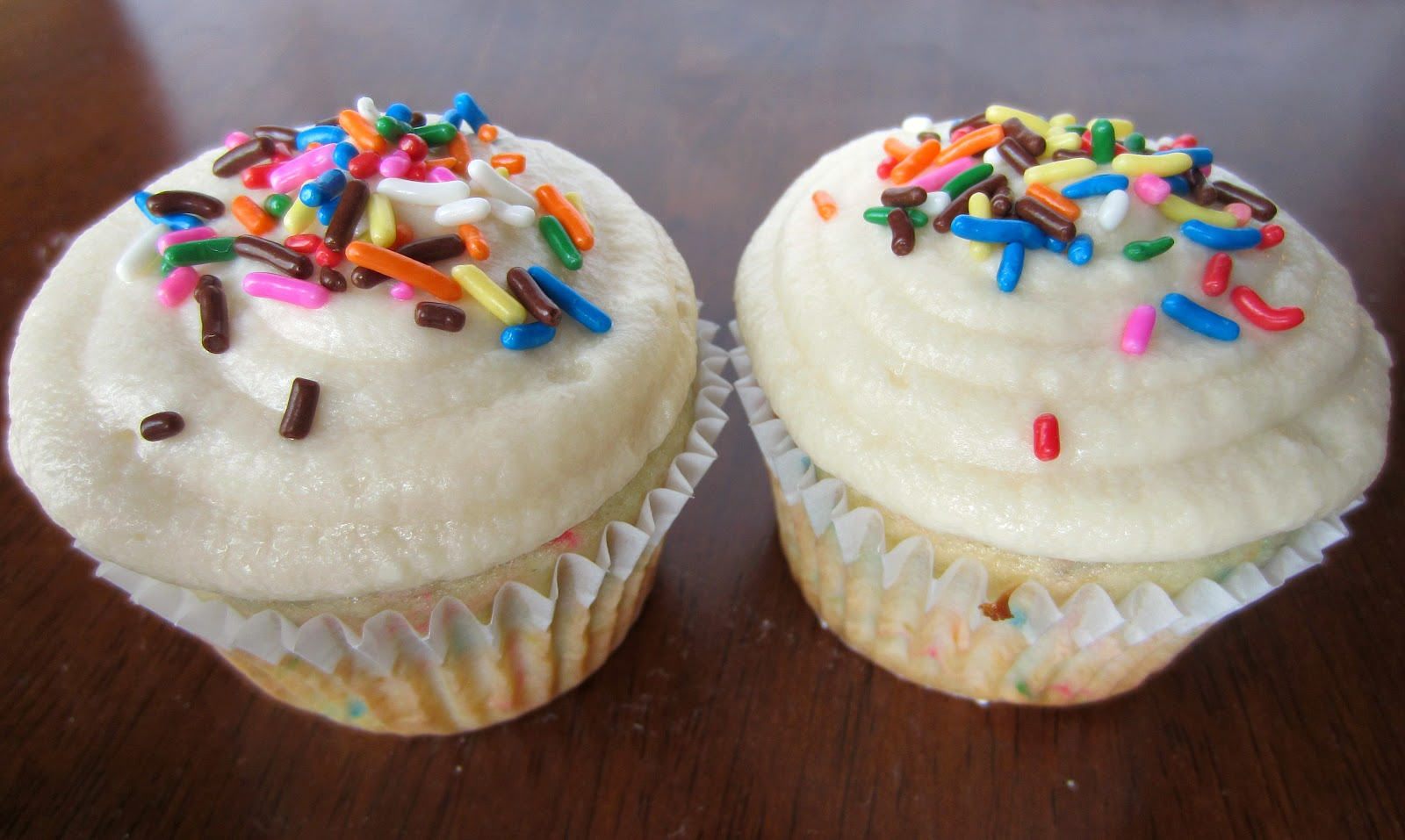 Funfetti Cupcakes for Two!