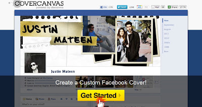 CoverCanvas Make My Cover 1 Como fazer capas personalizada pro Facebook  photoshop