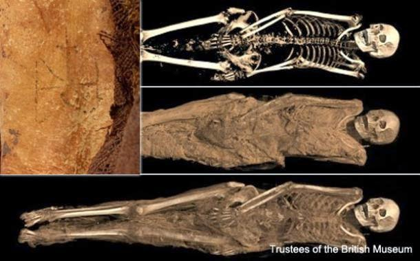 High-tech Scans Of Egyptian Mummies Reveal Tattoo Of Archangel Michael