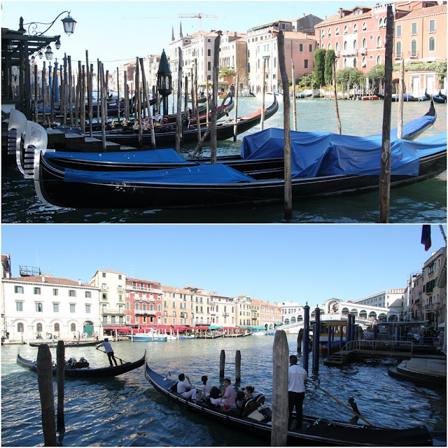 More gondolas at Grand Canal in Venice, Italy