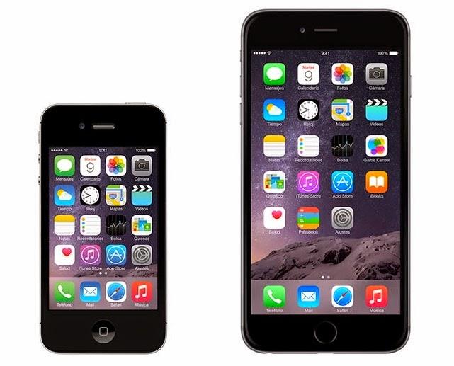 La diferencia de tamaño de los Iphone