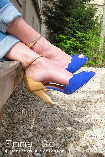 Escarpins bleu Emma Go été 2015