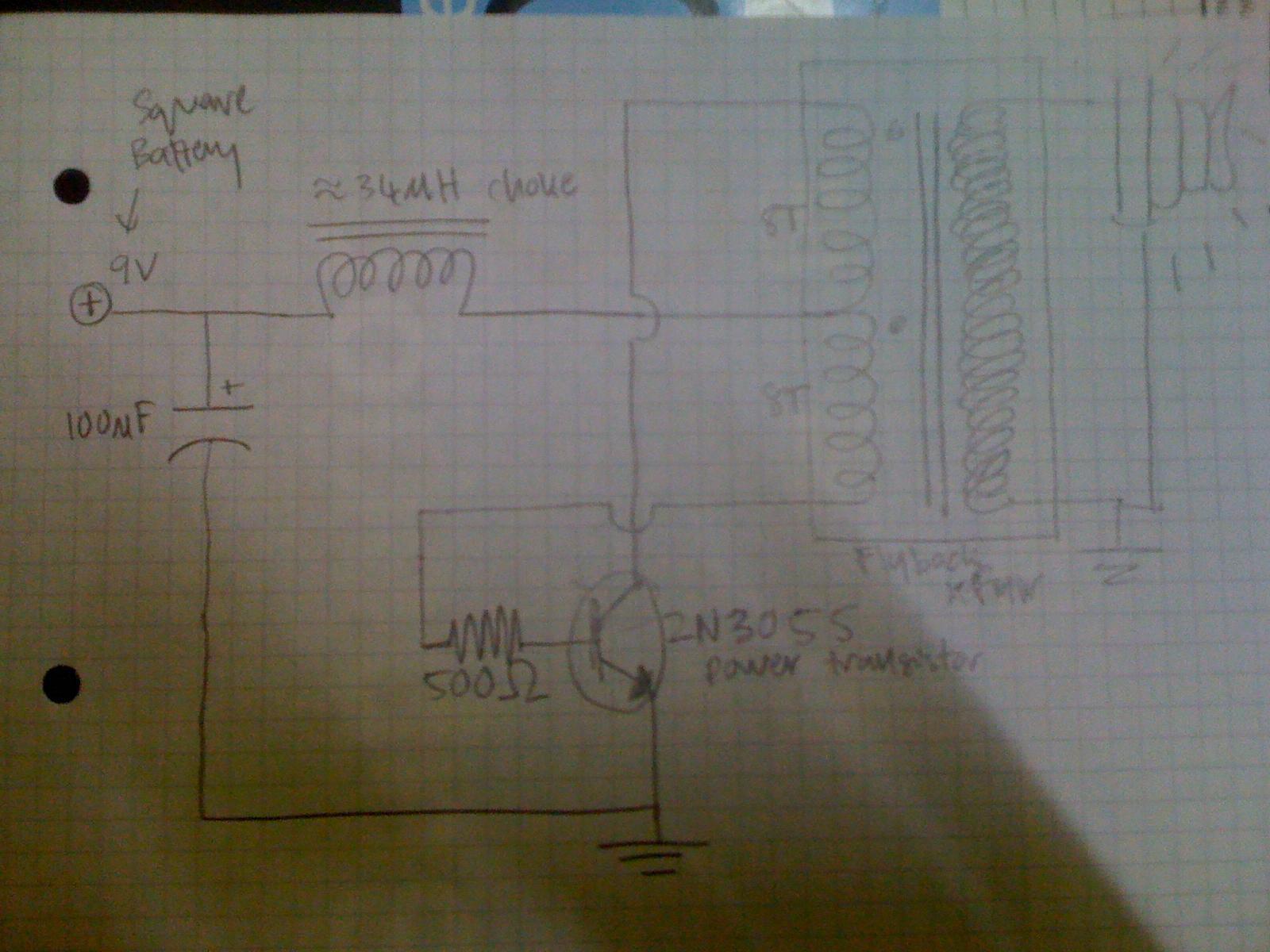 Thorpnics Lighting Fluorescent Bulb Using 9v Battery Led Light Circuit Diagram