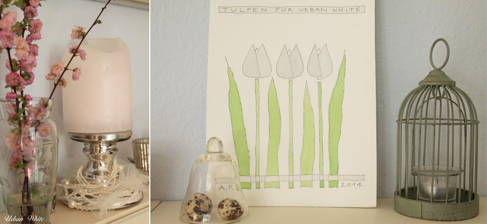 Urban white wohnen in wei wei e tulpen f r urban white for Schuhschrank blech
