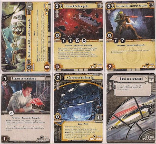 Expansión Star Wars LCG: Ciclo de Hoth - La búsqueda de Skywalker Movilización del Escuadrón Renegado